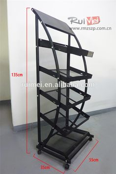 5 Tiers Metal Display Stand For Book Rotating Rack Magazine Clothing Carpet