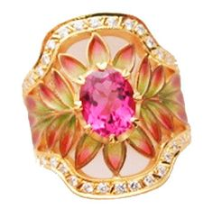 Masriera Tourmaline Flower Ring - Hartmann Jewelers