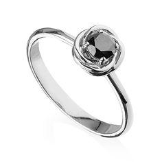Inel de logodna cu diamant negru DR3189