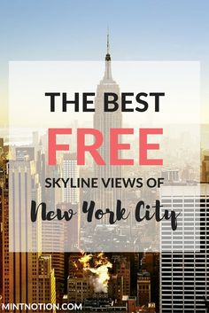 The best free skyline views of New York City. While some may argue that best views of Manhattan are found at the Top of the Rock or the Empire State Building's observation deck, these views come at a price. For first time (or repeat) visitors to New York City, I do recommend heading to one of these two places to see the city from above. You can save 40% off the regular admission price with the NYC CityPASS, which is a great deal. However, if you're on a tight budget, there are several…