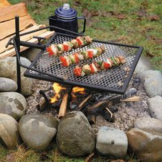 Adjust-a-Grill Portable Campfire Swivel Grill - For Grilling While Camping Barbecue Grill, Tragbarer Grill, Fire Pit Grill, Grill Grates, Grilling, Pit Bbq, Fire Pits, Griddle Grill, Camping Grill