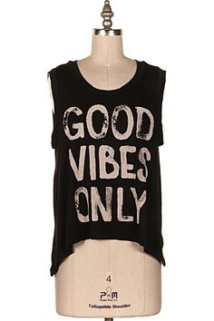 GOOD VIBES ONLY MUSCLE TANK   #9O-ICT10898