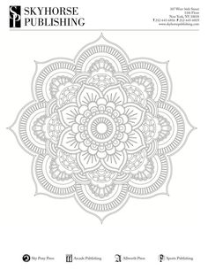 Grab five free printable adult coloring pages from Skyhorse Coloring Books