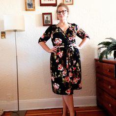 Thanks for the fabulous pattern, @cashmerette -- I love my newly sewn #appletondress  #sundayhair