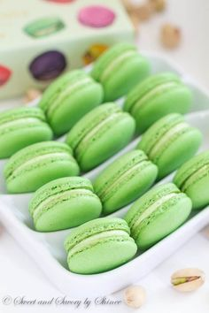 Classic Pistachio Macarons - Filled with Ladurée pistachio cream. Simply the…