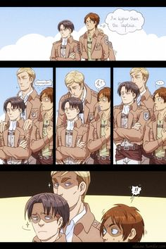 Find images and videos about anime, attack on titan and shingeki no kyojin on We Heart It - the app to get lost in what you love. Attack On Titan Comic, Attack On Titan Ships, Attack On Titan Fanart, Aot Funny, Funny Comics, Aot Memes, Funny Memes, Hilarious, Gato Anime