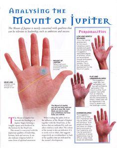 Divination:  #Palmistry ~ Analyzing the Mount of Jupiter.