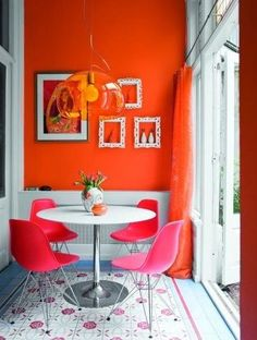 Pink and Orange Color Combinations, Amazing Ideas for Home Painting