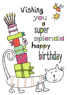 Simon Abbott - 'Wishing You A Super Splendid Happy Birthday' Happy Birthday To You, Birthday Wishes For Friend, Happy Birthday Pictures, Happy Birthday Messages, Happy Birthday Quotes, Happy Birthday Greetings, Birthday Greeting Cards, 21 Birthday, Birthday Songs