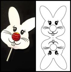 Ostern Bastelideen Bunny Lollipop, # OsterBastelideenBunny # b … - Frohe Ostern Easter Party, Easter Gift, Easter Bunny, Bunny Crafts, Easter Crafts For Kids, Easter Ideas, Spring Crafts, Holiday Crafts, Diy Gift For Bff