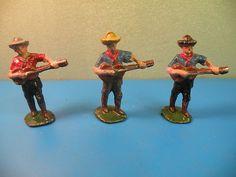 Wendal Vtg Aluminium Cowboys Playing Guitar Wendal Quiralu 3pcs F18A   eBay