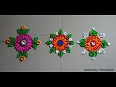 Diwali special easy border rangoli designs   Inn ovative rangoli designs by Poonam Borkar - YouTube
