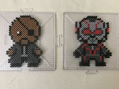 Nick Fury and Ant-Man Perler Bead Design