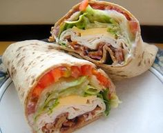 best healthy recipes in the world: TURKEY RANCH CLUB WRAP ... good idea, wrong wrap!