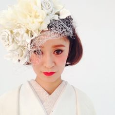 The Sweet Closet ♡の画像 Wedding Fascinators, Hairdo Wedding, Headpiece Wedding, Bridal Hair, Wedding Hairstyles, Traditional Wedding Attire, Wedding Kimono, Japanese Wedding, Hair Arrange