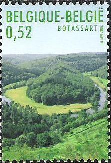 Belgian stamps Luxemburg-Belgium Joint Issue Grave of the Giant (Botassart)