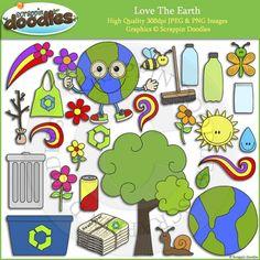 Love The Earth Clip Art