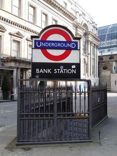 Bank Station by Randomly London, via Flickr - http://randomlylondon.com (End LW13)