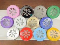 Daisy Mason Jar Lids, Daisy Cut Mason Jar Lids, Pink Daisy Lids, Rustic Wedding Ideas,Paper Straw Lids, Gold Mason Jar Lid-12 Colors to Choose From, $3.79+