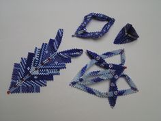 Contemporary Geometric Beadwork In Blue