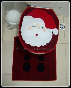 Jogo de banheiro em tricoline 100% algodão com antiderrapante. 2 peças R$ 110,00