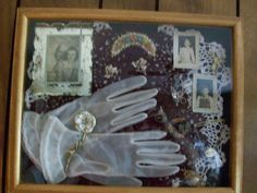 pictures of decorative vintage shadow boxes | Fill your shadow box with vintage memorabilia.
