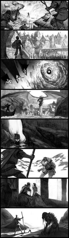 Value study http://ryanlangdraws.blogspot.com/2009/08/earthsea-beats.html