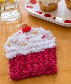 Cupcake Scrubby - Add sweetness to your dishwashing time with a delicious looking cupcake scrubby. Crochet it as a treat to yourself or give it with some nice hand lotion. Sweet!