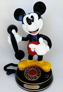 Vintage Mickey Mouse phone that I one day am determined to have Mickey Mouse Phone, Vintage Mickey Mouse, Minnie Mouse, Retro Phone, Vintage Phones, Disney Collectibles, Stupid Things, Disney Merchandise, Kitsch