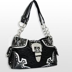 $41 online Black Animal Print Buckle Cowgirl Purse http://www.itsacowgirlthing.com/shop/item.aspx?itemid=11344