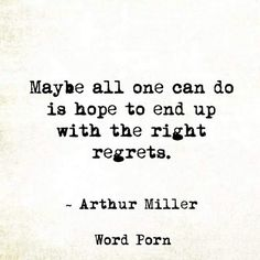 The right regrets