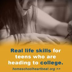 Are you wondering how to prepare your child for college? This week on Home School Heartbeat, Diane Kummer shares some life skills and study habits that will help college students succeed in their new environment.