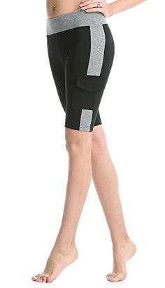 33836590d7fe Shorts de yoga taille haute pour femme Short de course à genouillère Shorts  de sport d été shorts d exercice- ABUSA A00158 Short d entraînement  élastique et ...