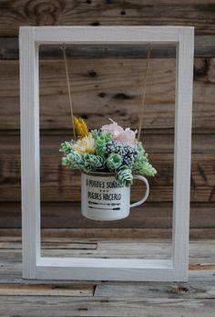 """Columpio de flores """"si puedes soñarlo, puedes hacerlo"""""""