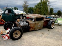 classic rat rod #trucks Rat Rod Cars, Hot Rod Trucks, Old Trucks, Dodge Trucks, Dually Trucks, Truck Drivers, Pickup Trucks, Diesel Trucks, Semi Trucks