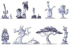 Jak 3 concept art - Desert Trees