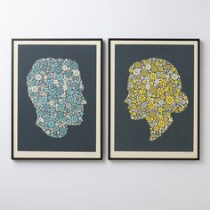 Flowering Confetti Hers Silhouette Print