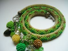 Multicolor Jewelry Statement Beaded Serpentine by BeadsGemsFlowers