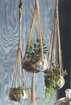 Roost Jute Hanging Planters, Small, Set/2 *NEW* Spring 2013