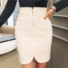 Cheap Sexy Asymmetrical Solid White Blending Sheath Mini Bodycon Skirt_Skirts_Bottoms_Womens Clothing_LovelyWholesale | Wholesale Shoes,Wholesale Clothing, Cheap Clothes,Cheap Shoes Online. - LovelyWholesale.com