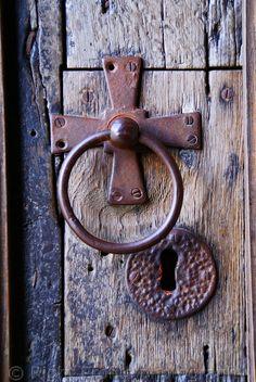 Door detail Durham cathedral