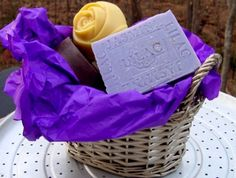 Natural Handcrafted Soap - Organic Five Piece Handmade Soap Gift Basket