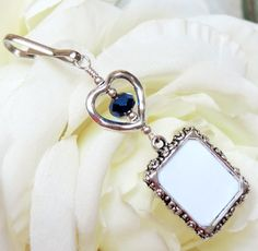 Wedding bouquet charm. Memorial photo charm with by SmilingBlueDog