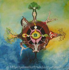 The 4 directions Mabon, Samhain, Mandala Lunar, Mother Nature Tattoos, Pagan Art, Mother Goddess, Sacred Feminine, Mandala Drawing, Moon Goddess