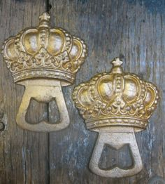 Your choice of silver or gold finish. Girls Bedroom, Bedroom Decor, Bedroom Ideas, Crown Wall Decor, Crown Bottle, Royal Crowns, New Beginnings, Bottle Openers, Miniatures