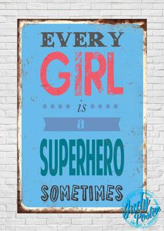 Vintage / Suprhero Old Style Wall Decor poster by Judydesignstore