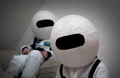 Astronauten Helme für Kinder aus Pappmache