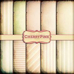 Digital Paper VINTAGE STRIPE  scrapbook paper by CherryPinkPrints #scrapbooking #craft #vintage