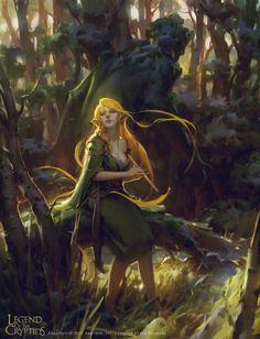Artist: Min Yum aka minskee - Title: Unknown - Card: Forest Virtuoso Fiona