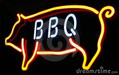 Barbeque neon sign by Tara Golden, via Dreamstime